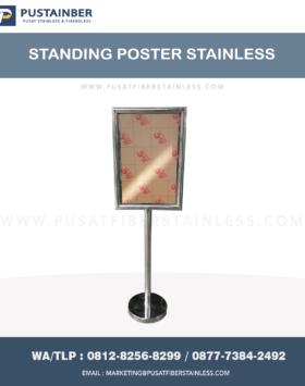 standing poster stainless , papan pengumuman , papan informasi , standing poster landscape,standing poster ashtray ,standing display ,standing display poster stainless