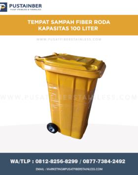 Tong Sampah Fiber Roda 100 Liter